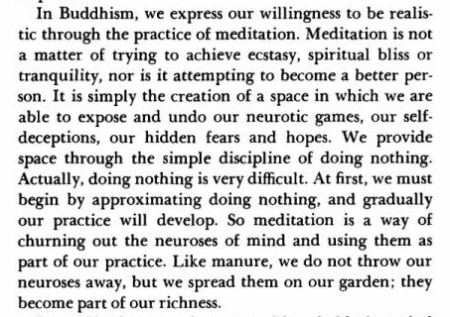 Excerpt from Myth Of Freedom, Chogyam Trungpa Rinpoche